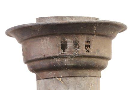 Close up of vintage samovar top.