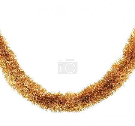 Photo for Close up of Christmas golden tinsel - Royalty Free Image