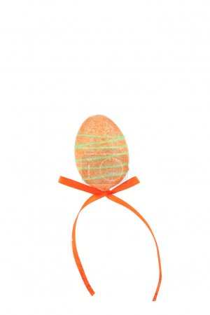 Decorative egg with bow.