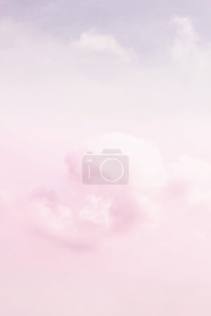 Fragment of pink cloud and sky