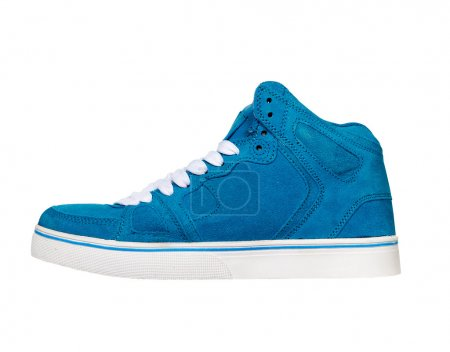 Blue sneakers isolated on white background