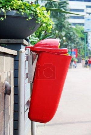 Photo for Garbage bin. Garbage disposal street bin - Royalty Free Image