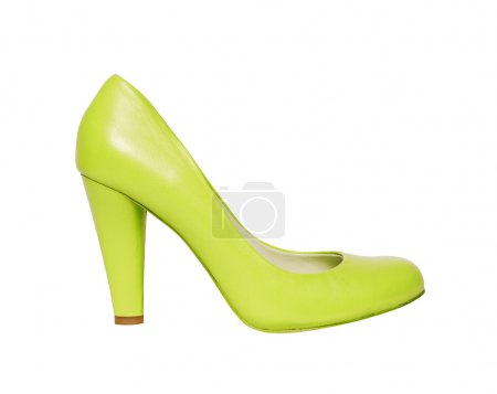 Green shoes isolated on white background