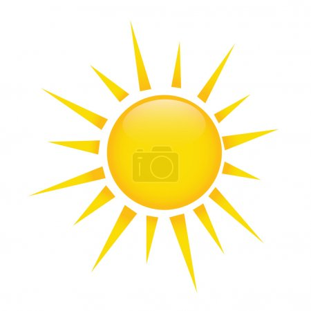 Illustration for Abstract sun on white background - Royalty Free Image