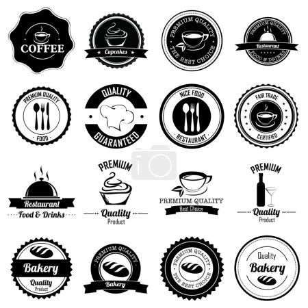 Ilustración de Etiquetas diferentes sobre fondo blanco - Imagen libre de derechos