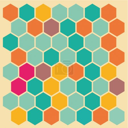 Illustration for Hexagon with different color making a special background - Royalty Free Image