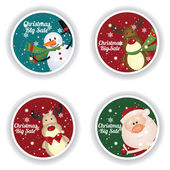 Christmas big sale labels on special background