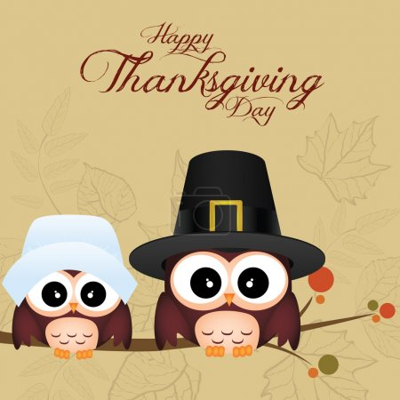 Illustration for Abstract thanksgiving day background with allusive special objects - Royalty Free Image