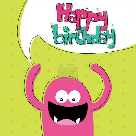 Illustration for Abstract happy birthday card with special objects - Royalty Free Image
