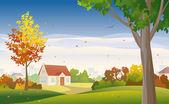 Autumn suburb