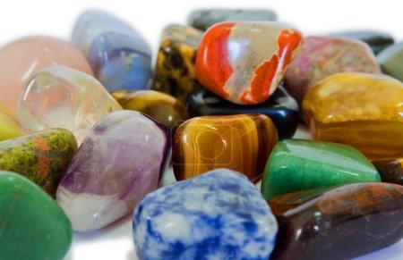 Various stones, minerals, gems, that contain spiri...