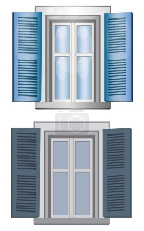 Two windows made by vector