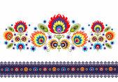 Folk Pattern With Flowers