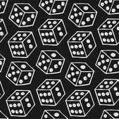 Image of dice Seamless black pattern with drawn bricks