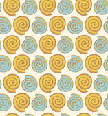 Abstract spiral pattern Seamless decorative background with ethnic elements