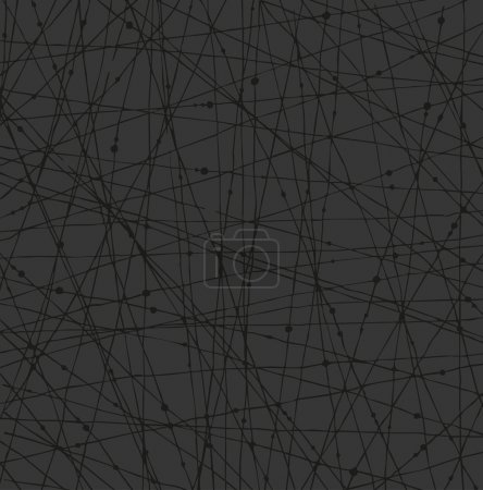 Linear dark network texture with dots. Background for wallpapers, cards, arts, textile