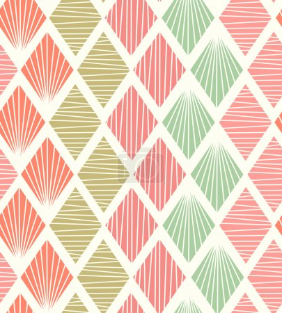 Seamless geometric pattern with rhombus. Decorative light tiles texture