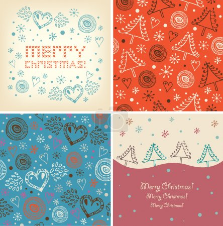 Set of Christmas holiday banners.