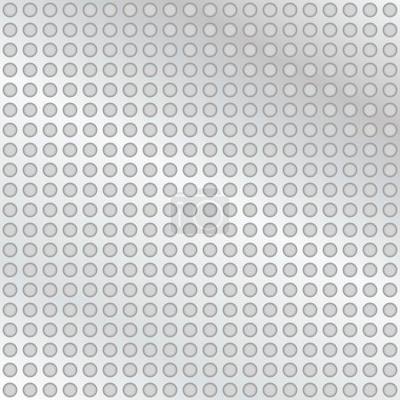 Illustration for Metal background with holes - Royalty Free Image