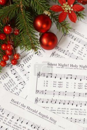 Sheets of Christmas carols