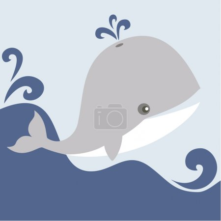 Whale in the sea.