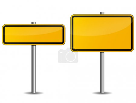 Illustration for Illustration of road sign on white background - Royalty Free Image