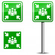 Illustration of signboard for Assembly point...