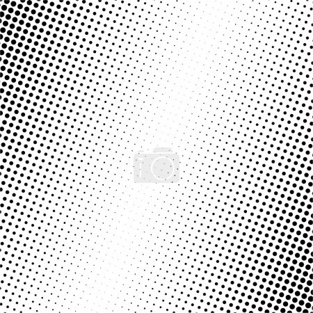 Illustration for Vector illustration of black dots on white background - Royalty Free Image