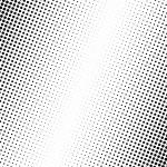Vector illustration of black dots on white backgro...