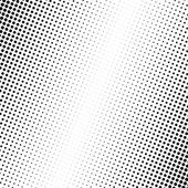 Vector illustration of black dots on white background
