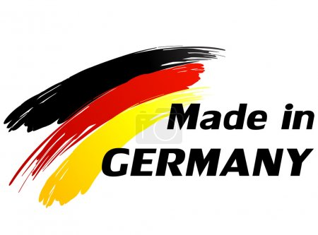 Vector illustration of made in germany label...