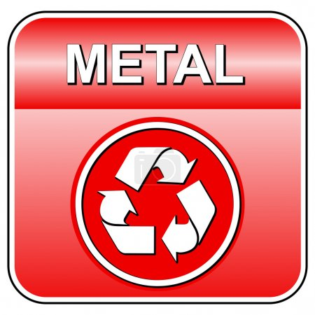 Vector metal recycle icon