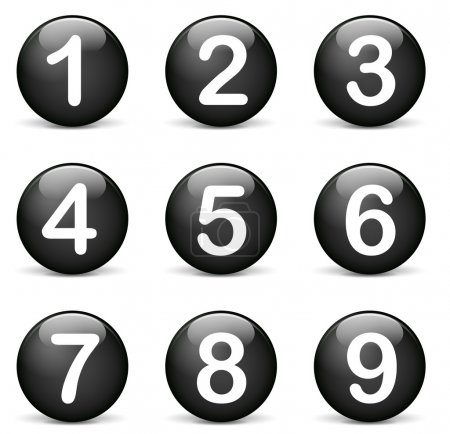 Vector round numbers icons