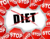 Zastavit dieta koncept