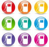 Vektorové ikony paliva