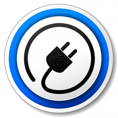 Illustration for Vector illustration of black and blue electric icon - Royalty Free Image