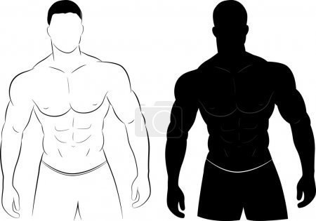 Muscle man silhouette
