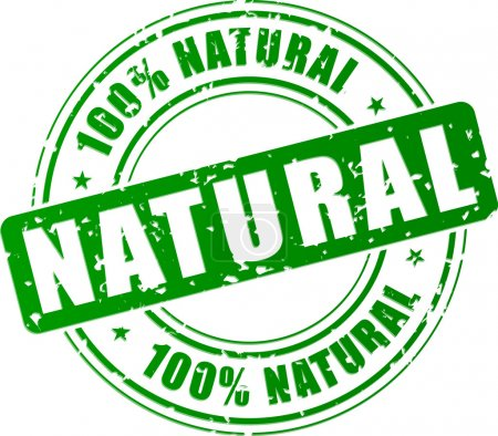 Illustration for Vector illustration of green natural stamp concept - Royalty Free Image