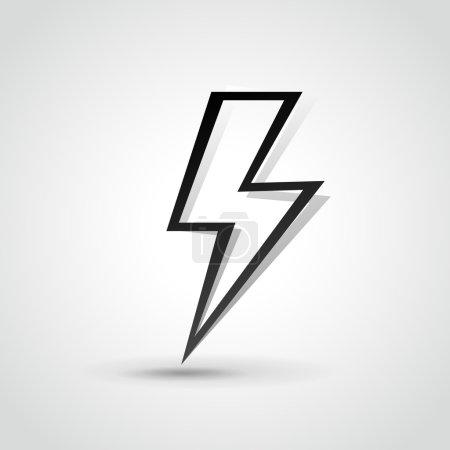 Vecor lightning bolt illustration