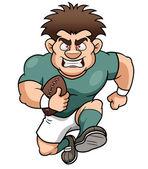 Kreslený ragbyový hráč