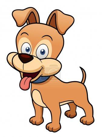 Illustration pour Illustration vectorielle de chien dessin animé - image libre de droit