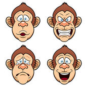 Cartoon Face Monkeys