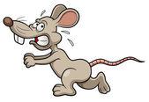 Cartoon rat running