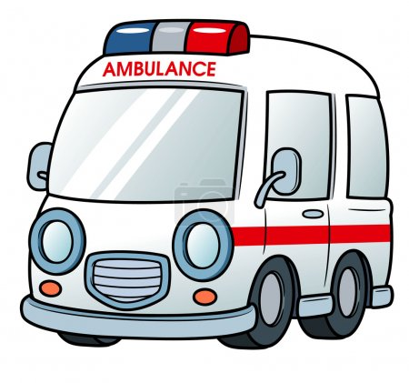 Illustration for Vector illustration of Ambulance vector - Royalty Free Image