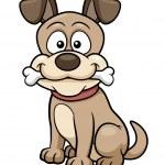 Vector illustration of Cartoon Dog...