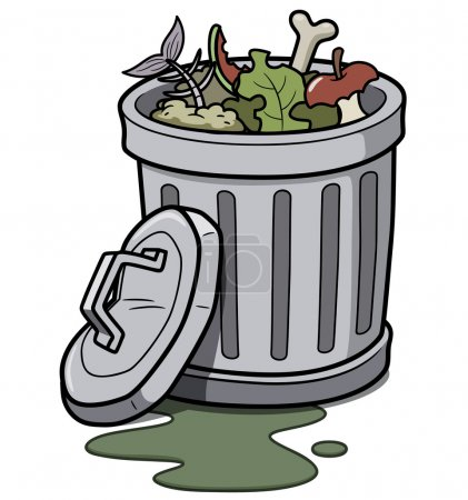 Illustration for Vector illustration of Trash can - Royalty Free Image
