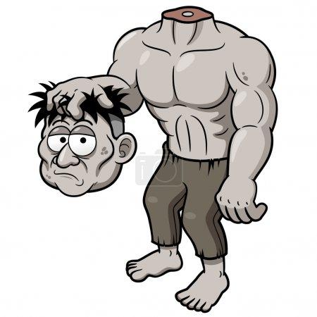 Cartoon zombie headless