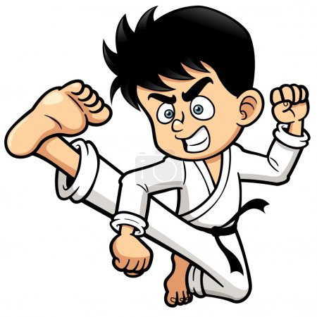 Boy Karate kick