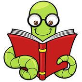 Cartoon book worm