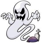 Vector illustration of Ghost cartoon...
